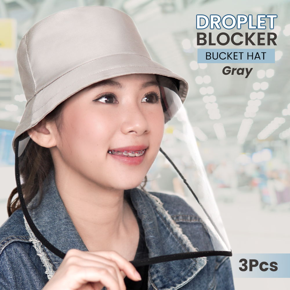 Topi Droplet Bucket Hat  With  PVC (3Pcs)