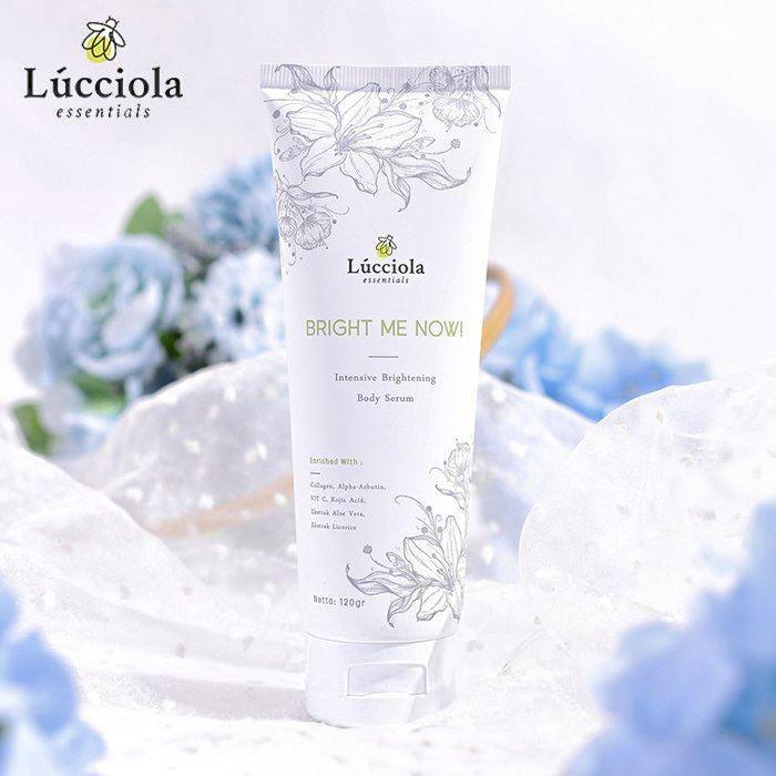 Body SERUM instant whitening lotion LUCCIOLA Essentials Brightening