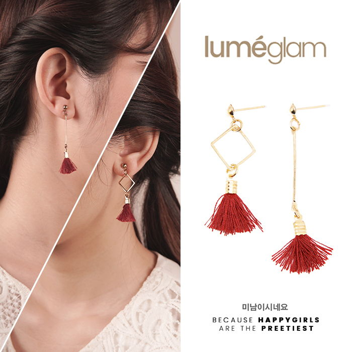 Korean small  tassel earrings - AP2278