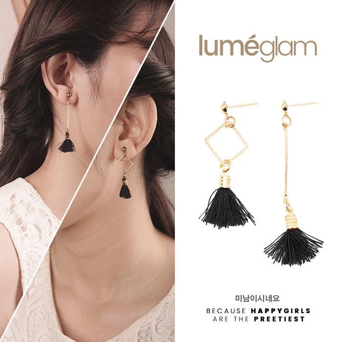 Korean Fashion Velvet Tassel Earrings - AP2280