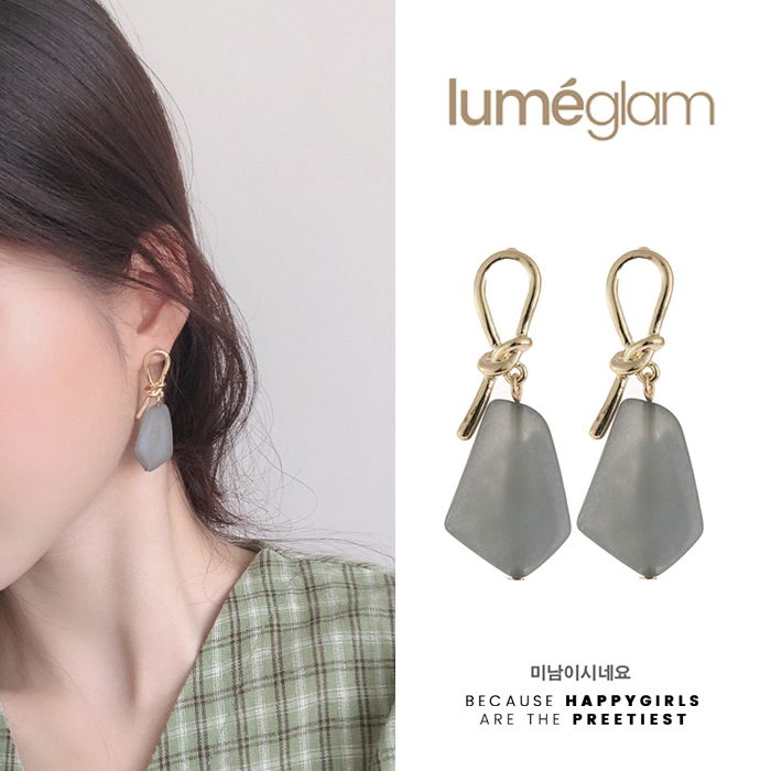 Silver Needle Korean Fashion Temperament Metal Knotted Earrings Simple - DEC058