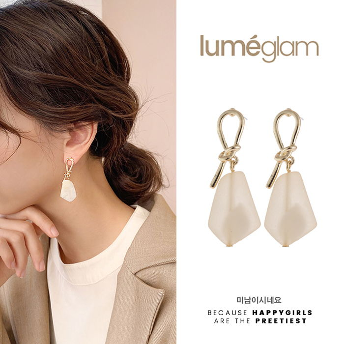 Silver Needle Korean Fashion Temperament Metal Knotted Earrings Simple - DEC059