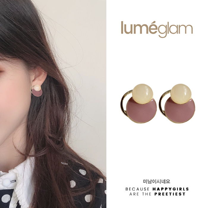 silver needle gentle retro style amber pattern earrings female Korean personality - DEC076
