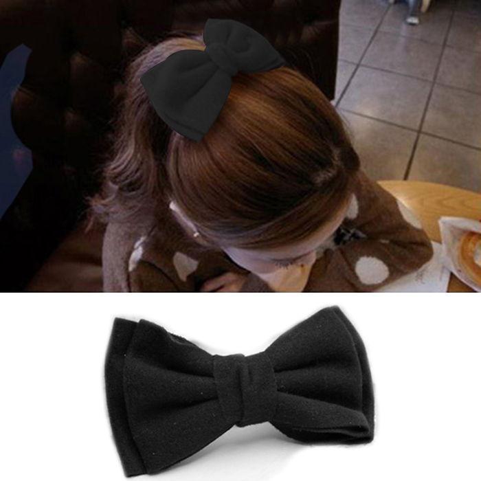 Korea Korean Hair Accessories Headdress Big Bow Hairpin Ponytail Clip Spring Clip