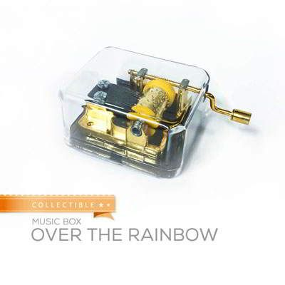 Collectible Music Box Over The Rainbow Over The Rainbow