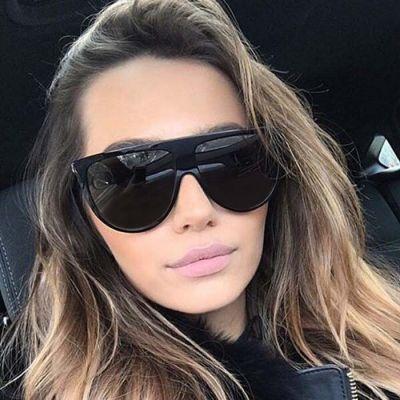 Retro Big Frame Sunglasses Black Frame+Black Glasses