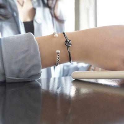 Knotted Bracelet Harga 1pcs Black