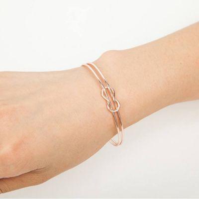 Geometry Double Bracelet Rose Gold