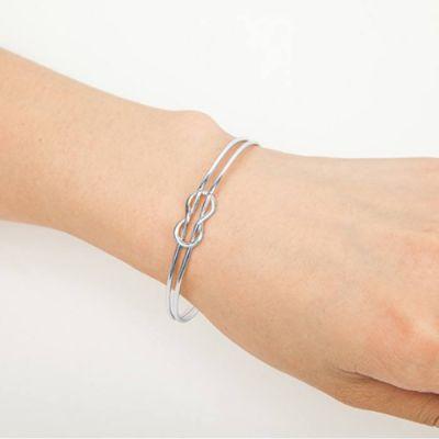 Geometry Double Bracelet Silver