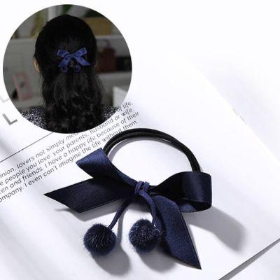 Bow Elastic Hair Rope Navy