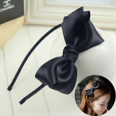 Headdress Bow Headband Black