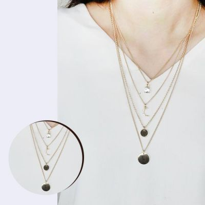 Exquisite Drop Multi Layer Clavicle Necklace Gold
