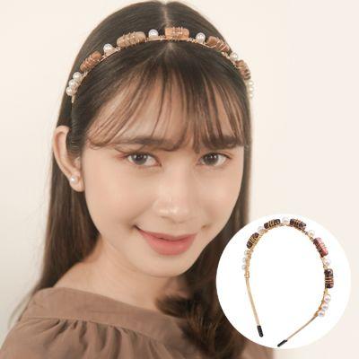 Shell Headband The Hair Accessories Fashion Europe Stone Hair Hoop Handmade Hair Gold