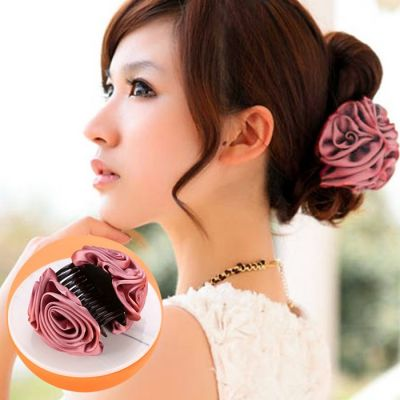 The New Korean Version Of The Fashion Hair Accessories To Catch The Large Headwear Large Hair Claws Explosive Models Of The Flower Clips Dusty Pink