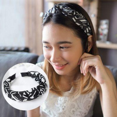 Korean version of the headband fashion fabric gradient stripes