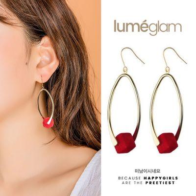 Creative long Korean style earrings personality pendant