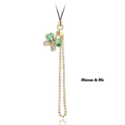 (Olive) Luxury romantic Austrian crystals mobile bag chain-SUI LOVE