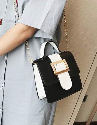 Square Buckle Simple Handbag