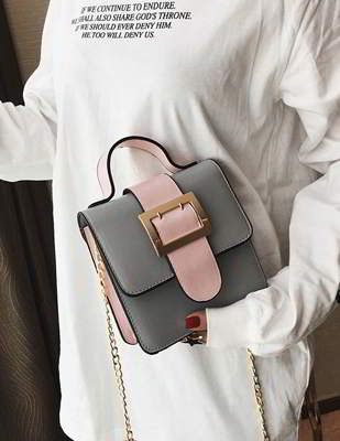 Square Buckle Simple Handbag