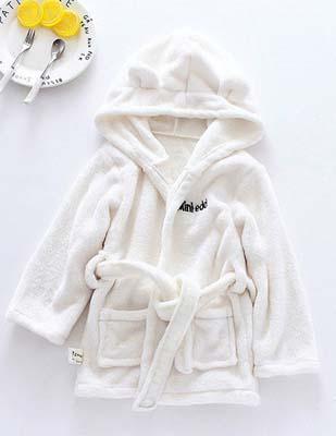 JRK Kids pure color bathrobe