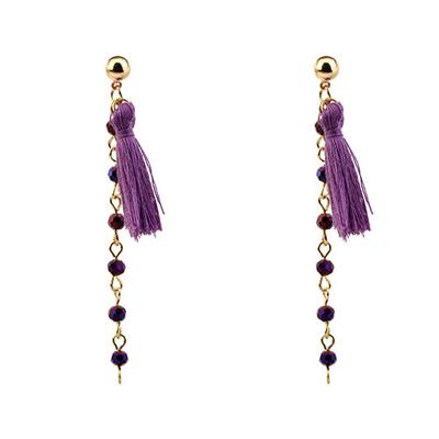 tassel long earrings