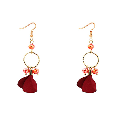 petal shape earrings