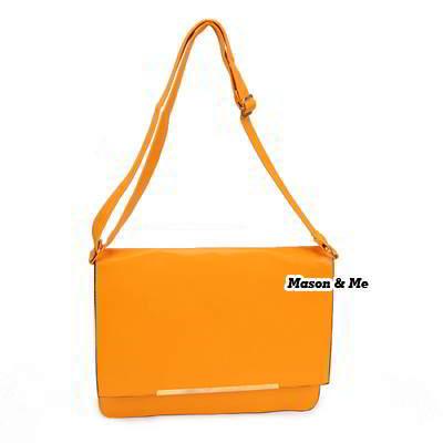 (Yellow) Korean woman classic fashion Minimal Design charm handbag shoulder bag