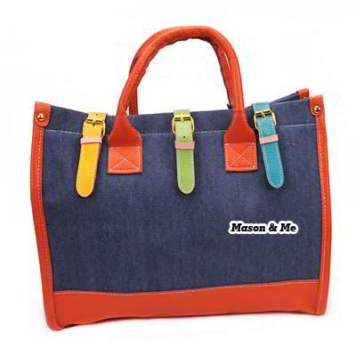 (blue) Korean vintage classic fashion assorted colors charm desin handbag shoulder bag