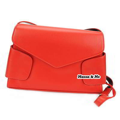 Korean classic casual fashion simple design charm aslant bag handbag