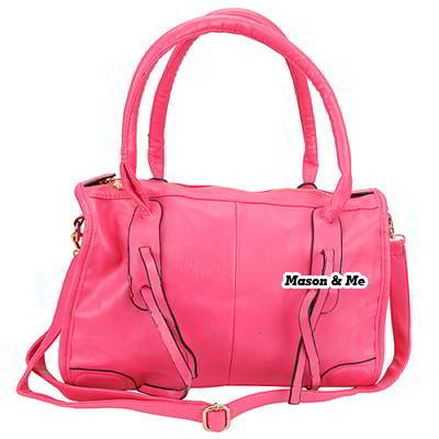 Korean casual elegant fashion pu leather charm design shoulder bag handbag