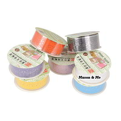 (1pcs price) DIY waterproof lace medium decoration adhesive sticker tape (color will be random)
