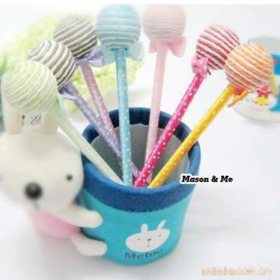 (Color will be random) Korean lovely fashion lollipop shape charm gift ball pen