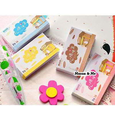 (Color will be random) Cartoon mood lovely mini coloured page writing memo pad paper notepads notepaper