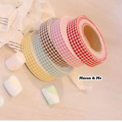 (Color will be random) Countryside Fabric Decoration Adhesive Sticker Tape