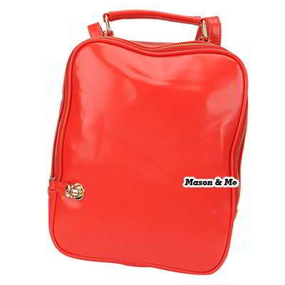 Korean persoanlity fashion candy color multifunction shoulder bag backpack