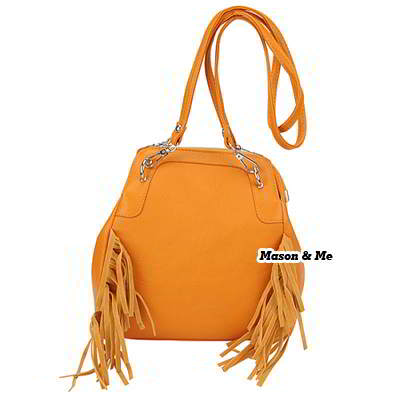 Korean woman exquisite fashion PU leather tassels charm handbag backpack