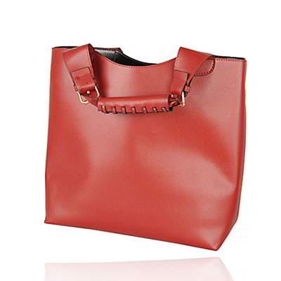 Monarch Red Square Design PU Handbags