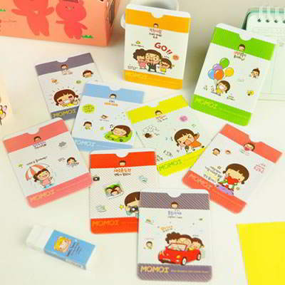 Korean lovely fashion sweet girl pattern card case (Color will be random)