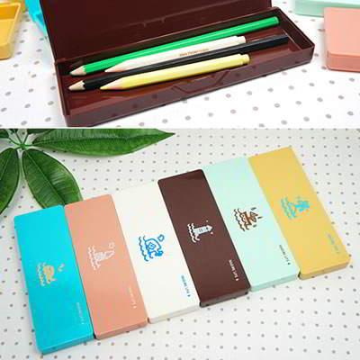 Korean creativity fashion oceans pattern design pencil box (1pcs price)
