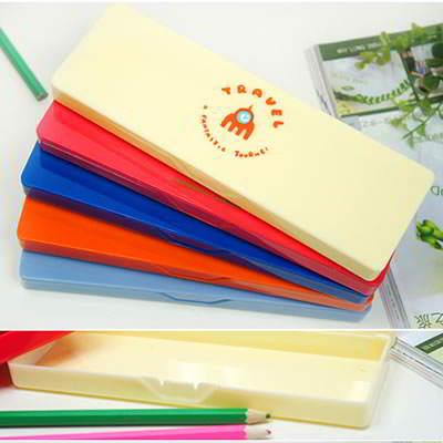 Korean creativity fashion travel memory patter design pencil box (1pcs price) (Color Will Be Random)