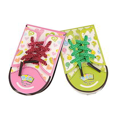 Korean creativity fashion shoe shape design 40 pages sticky notes (1pcs price) (Color will be random)