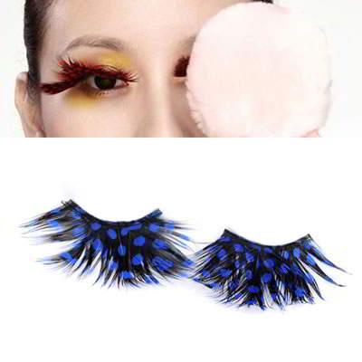 Korean personality fashion blue dot design false eyelash