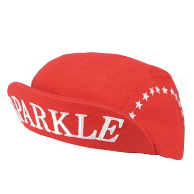 Korean personality punk style fashion turn brimmed baseball hat (Red)