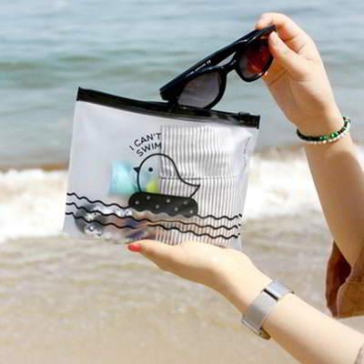 Scene Color Will Be Random Creative Little Chick Pvc Pencil Case Paper Bags