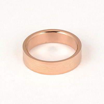 Splendid Rose Gold Color Simple Pattern Design Titanium Fashion Rings
