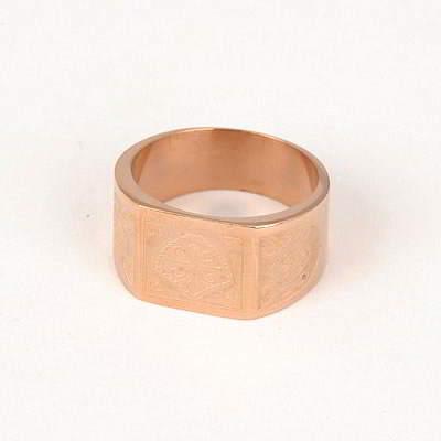 Japanese Rose Gold Color Cross Design Titanium Fashion Rings