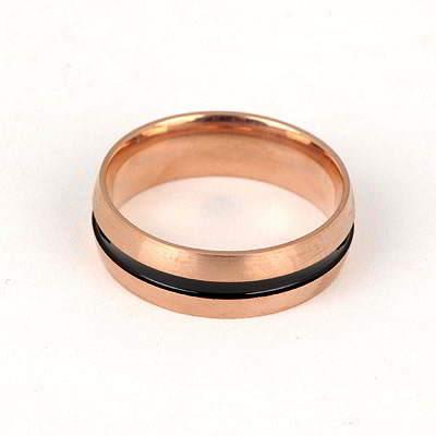 Bohemian Rose Gold Color Double Colors Design Titanium Fashion Rings