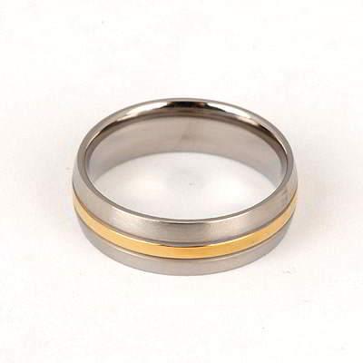 Define Silver Color Double Colors Design Titanium Fashion Rings