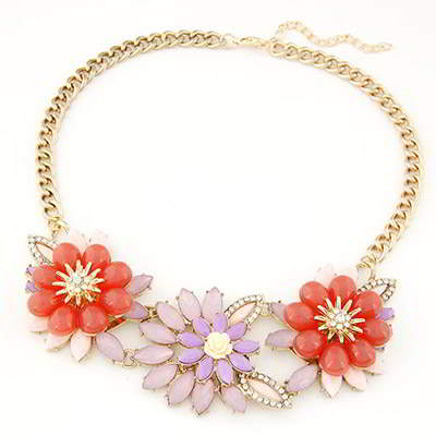 gemstone decorated flower design