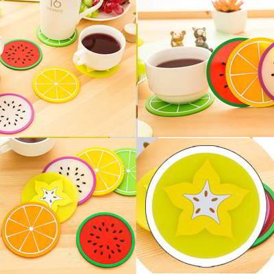 fruit pattern coaster simple design